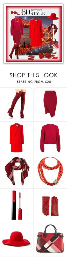 """Coat"" by sinitsa58 ❤ liked on Polyvore featuring Givenchy, Burberry, Poiray Paris, Giorgio Armani, MCM and Scala"
