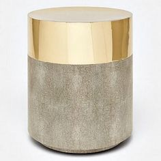 Glam and texture are the hallmarks of the brass and sand, '70s-inspired Maxine Stool from Made Goods. Covered with luxurious faux shagreen and shiny brass, this piece is the ideal choice for any room in your home or office.