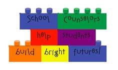 School Counselors help students build bright futures! Ideas for a Lego themed National School Counseling Week! #NSCW