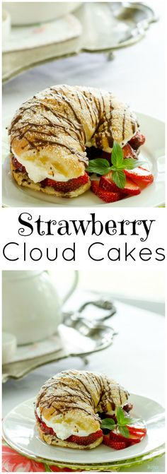 Strawberry Cloud Cakes from LauraFuentes.com