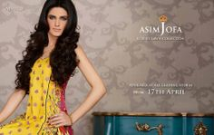 brings a burst of color in your wardrobe, with a vivacious Yellow embroidered front, two additional embroidered panels (Kali Style), a lovely floral printed back, plain Navy Blue Trousers and a digitally printed Dupatta. An embroidered mesh border gives this outfit that extra something.