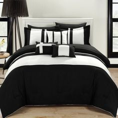 Fiesta Black & White Color Block Bed In A Bag Chic Home