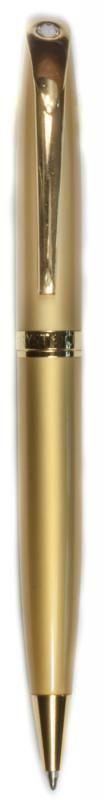 Kugelschreiber mit Kristall Goldfarben matt MADE WITH SWAROVSKI ELEMENTS - premium-kristall