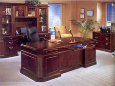 Executive Office Furniture Vintage And Classic Office Interior Design Ideas With Executive Office. Home Office Furniture Design, Executive Office Furniture, Office Interior Design, Office Interiors, Modern Interior, Home Design, Design Ideas, Design Styles, Office Desk For Sale