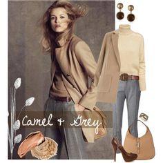 Camel & Grey by melissa-de-souza on Polyvore featuring H&M, Dorothy Perkins, Bouchra Jarrar, Sugarfree Shoes, Gucci, Vintage America, Effy Jewelry, Dsquared2 and L'Oréal Paris