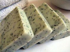 Cucumber and green tea exfoliating soap