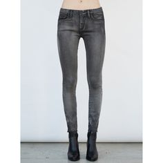 Blank NYC Raw Edge Skinny Jean (9750 RSD) ❤ liked on Polyvore featuring jeans, grey, grey skinny jeans, raw edge jeans, blanknyc, denim skinny jeans and blanknyc jeans