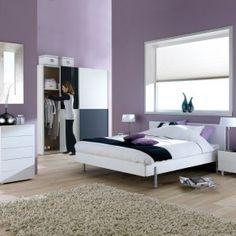 ... paarse muur interieur huis paars slaapkamer slaapkamer wensen paarse