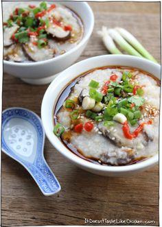 14 Congee Recipes for When Your Rice Porridge Craving Strikes - Brit + Co Rice Recipes, Asian Recipes, Vegetarian Recipes, Dinner Recipes, Cooking Recipes, Healthy Recipes, Vegan Vegetarian, Vegan Food, Gastronomia