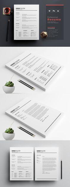 CV, resume and cover letter set v2
