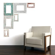 Adhesive Weathered Frames | Removable Wall Decals | Walls Need Love