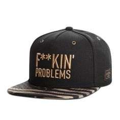 Casquette Cayler&Sons F**kin problems / snapbak cap / Gold Pack édition limitée / Limited edition Streetwear fashion