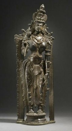 touch the earth :Shri Lakshmi, copper idol.