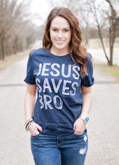JESUS SAVES BRO t-shirt by Ruby's Rubbish by RubysRubbish on Etsy