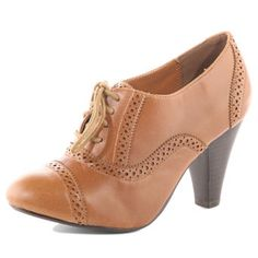 Oxford heels. Must wear with cute tights and yellow sweater.