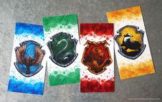 Free Printable Harry Potter Hogwarts House Bookmarks
