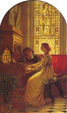Harmony by Sir Frank Dicksee :: artmagick.com