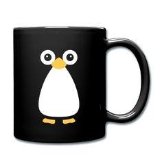 Cute Vector Penguin Black Mug