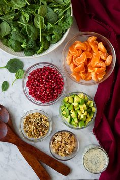 Mandarin Pomegranate Spinach Salad with Poppy Seed Dressing - Cooking Classy
