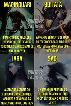 Aqui é da cultura brasileira Fantasy Creatures, Mythical Creatures, Fantasy Images, Fantasy Art, America Memes, Samurai Armor, Angel Of Death, Fantasy Inspiration, Dark Souls