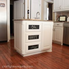 chalkboard cabinet fronts cheap diy upgrades