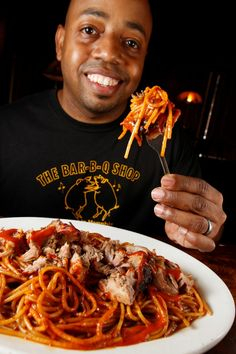10 MUST-EAT RESTAURANTS IN MIDTOWN MEMPHIS || Pigs will be dancing over the barbecue spaghetti from the Bar-B-Q Shop. #TheMidtowner