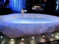 Crystal Quartz Bath Tub - Google Search. An amazing luxury I would imagine! :)