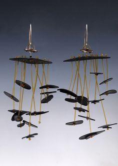 maryDONALD - jewelry, objects, installation-- rockin' the big earrings -- YES!