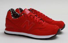 New Balance 574 — Red