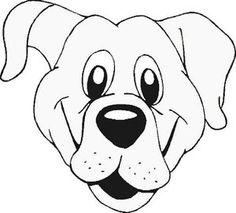 Dog Face Coloring Page Free Template Or