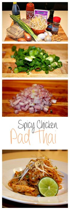 Canadian Made- Spicy Chicken Pad Thai, great recipe to try! #asianfood #spicy #padthai
