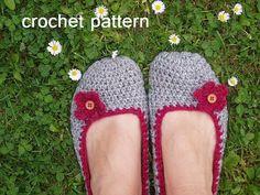 Adult Slippers Crochet Pattern PDF,Easy, Great for Beginners, Shoes Crochet Pattern Slippers,  Pattern No. 18