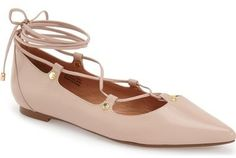 Halogen ® Halogen 'Owen' Pointy Toe Ghillie Flat (Women)
