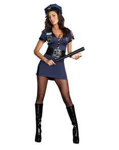 Officer Lauren Order Adult Womens Costume $60 Small 2-6 (with zip-off midriff and hat)
