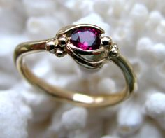 14k gold and ruby engagement ring. support independent artists @ etsy: http://www.etsy.com/shop/diggersgoldjewelry