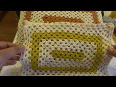 CROCHET - CAPA RETANGULAR PARA ALMOFADAS - YouTube