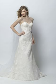 Come try on this light weight and lovely corset back lace gown in our shop at Blush Bridal