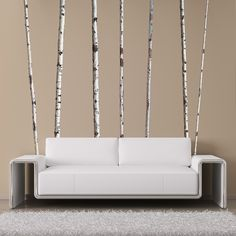 wall decals - Summer Birch Trees http://wallsneedlove.com/collections/nature/products/super-real-birch-trees