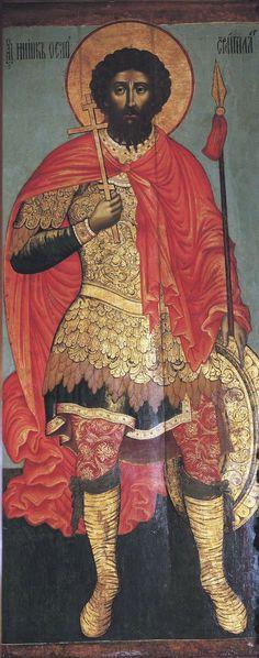 Святой Фёдор Стратилат. Икона письма Фёдора Зубова St.Theodor Stratylat