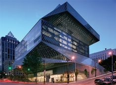 the Seattle Central Library, designed by Rem Koolhaas's Dutch firm OMA Rem Koolhaas, Gaudi, Seattle Central Library, Library Architecture, Beautiful Library, Downtown Seattle, Library Design, City Library, Library Ideas