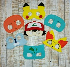 Pokemon Mask-Felt Masks Felt Dress Up Masks  Ash by MTBrownBear