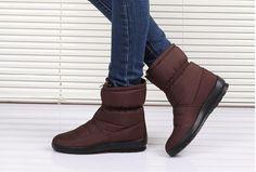 2015 nueva otoño invierno mujer madre antideslizantes impermeables zapatos de algodón acolchado térmico de maternidad más tamaño botas de nieve en Botas de la Mujer de Calzado en AliExpress.com | Alibaba Group
