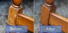 How To Naturally Repair Wood With Just Two Ingredients- 3/4 c oil & 1/4 c vinegar