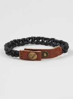 Icon Brand Tan Leather Plaited Cord Bracelet* - Jewellery - Shoes and Accessories - TOPMAN EUROPE