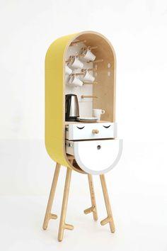 LO-LO The Capsular Microkitchen by Kafedra Mebeli Unique Furniture, Kids Furniture, Furniture Design, Funny Furniture, Wood Design, Industrial Design, Interior And Exterior, Interior Decorating, Woodworking