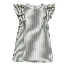 Stripe Butterfly Sleeve Dress Hundred Pieces Teen Children- A large selection of Fashion on Smallable, the Family Concept Store - More than 600 brands.