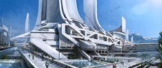 Mass Effect 3 - Earth street view on Behance