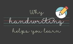 How and why cursive handwriting helps you learn. I think I will practice with my kids! Improve Your Handwriting, Cursive Handwriting, Teaching Handwriting, Penmanship, Teaching Cursive Writing, Start Writing, Hand Writing, Mobile Learning, Fun Learning
