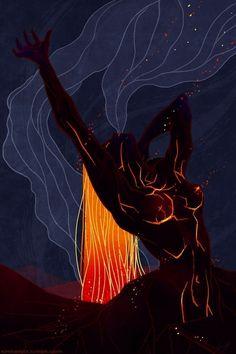 Kim Herbst - Illustration: Sketch Dailies: Pele Goddess of Fire Illustration, art Posca Art, Art Vintage, Desenho Tattoo, Goddess Art, Psychedelic Art, Aesthetic Art, Black Art, Love Art, Female Art