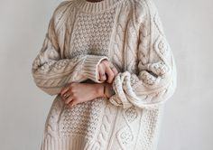 Knit and gold jewellery